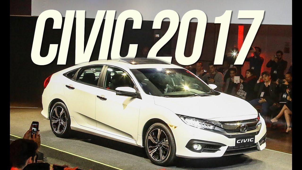 Novo Honda Civic 2017 - Lançamento no Brasil - YouTube