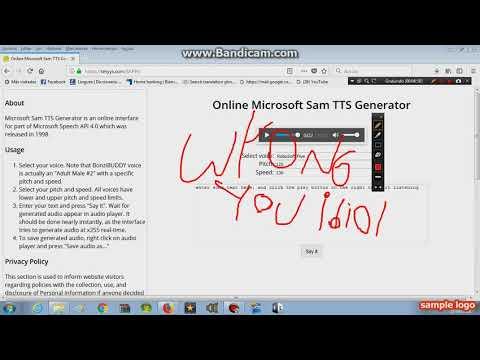 online microsoft sam TTS generator voices