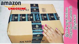 Amazon shopping haul unboxing | Kitchen Cabinet And Counter Shelf Organizer
