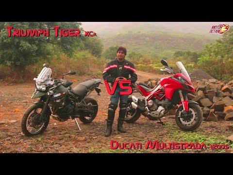 Ducati Multistrada 1200S vs Triumph Tiger XCa 2016 - WORLD EXCLUSIVE
