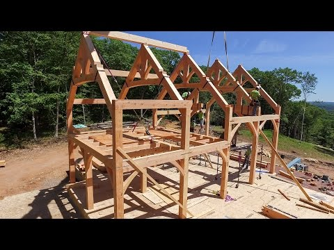 Raising The Timber Frame Home At Bald Hill
