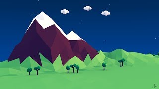 Low Poly Mountain - Jordan Lang - 3D Modeling