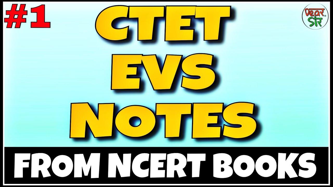 EVS NOTES (Part 1) FOR 2018 PRT, REET, CTET, HTET, UPTET, BTET AND ALL TET  | EVS by Dear Sir