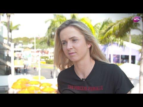 2018 Miami Open pre-tournament interview   Elina Svitolina