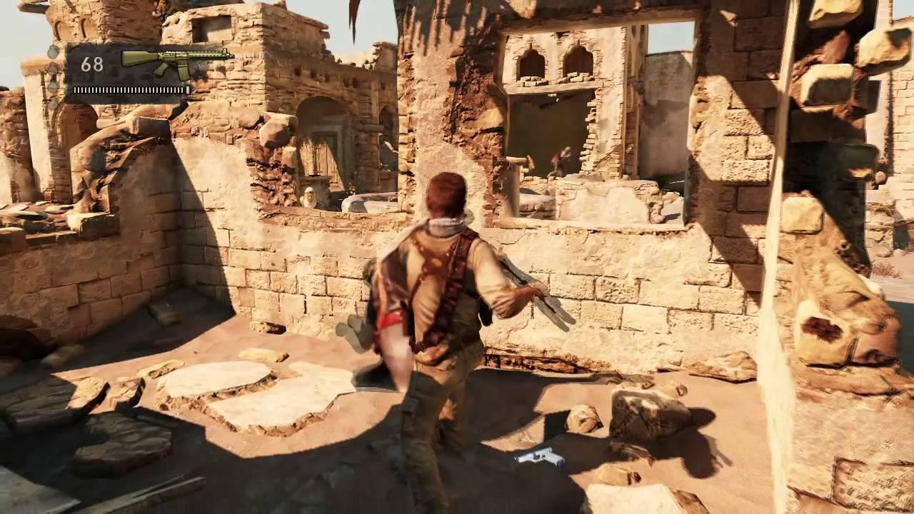Uncharted 3 Drake S Deception Desert Village Gameplay Hd