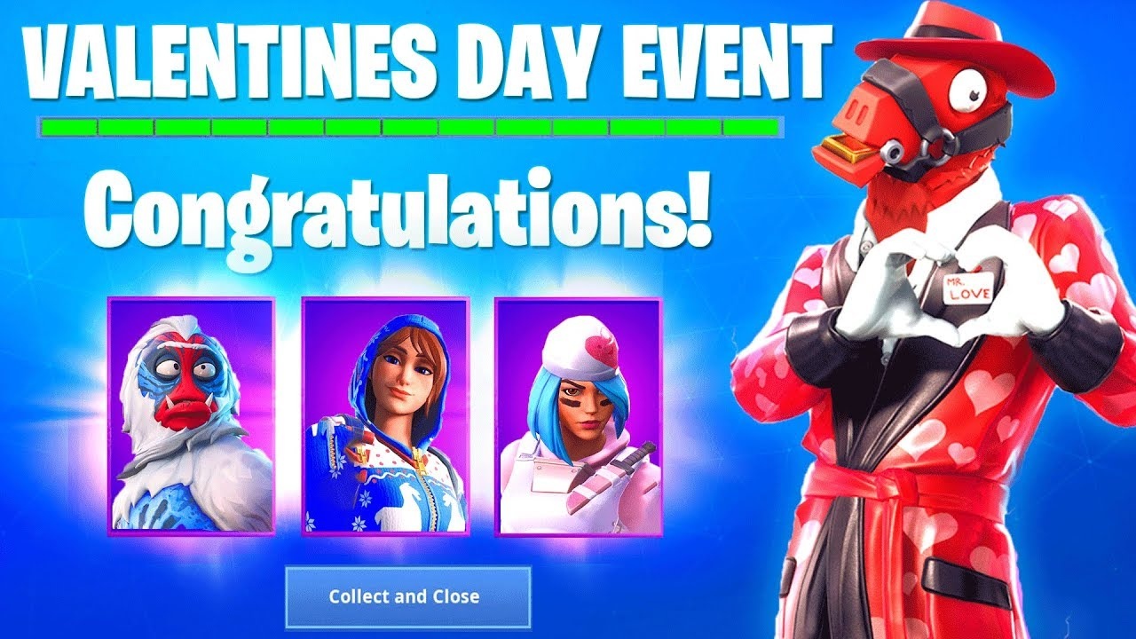 Fortnite SHARE THE LOVE EVENT : FREE REWARDS, FREE SKINS, WRAPS & MORE!  (Valentines Day Challenges)