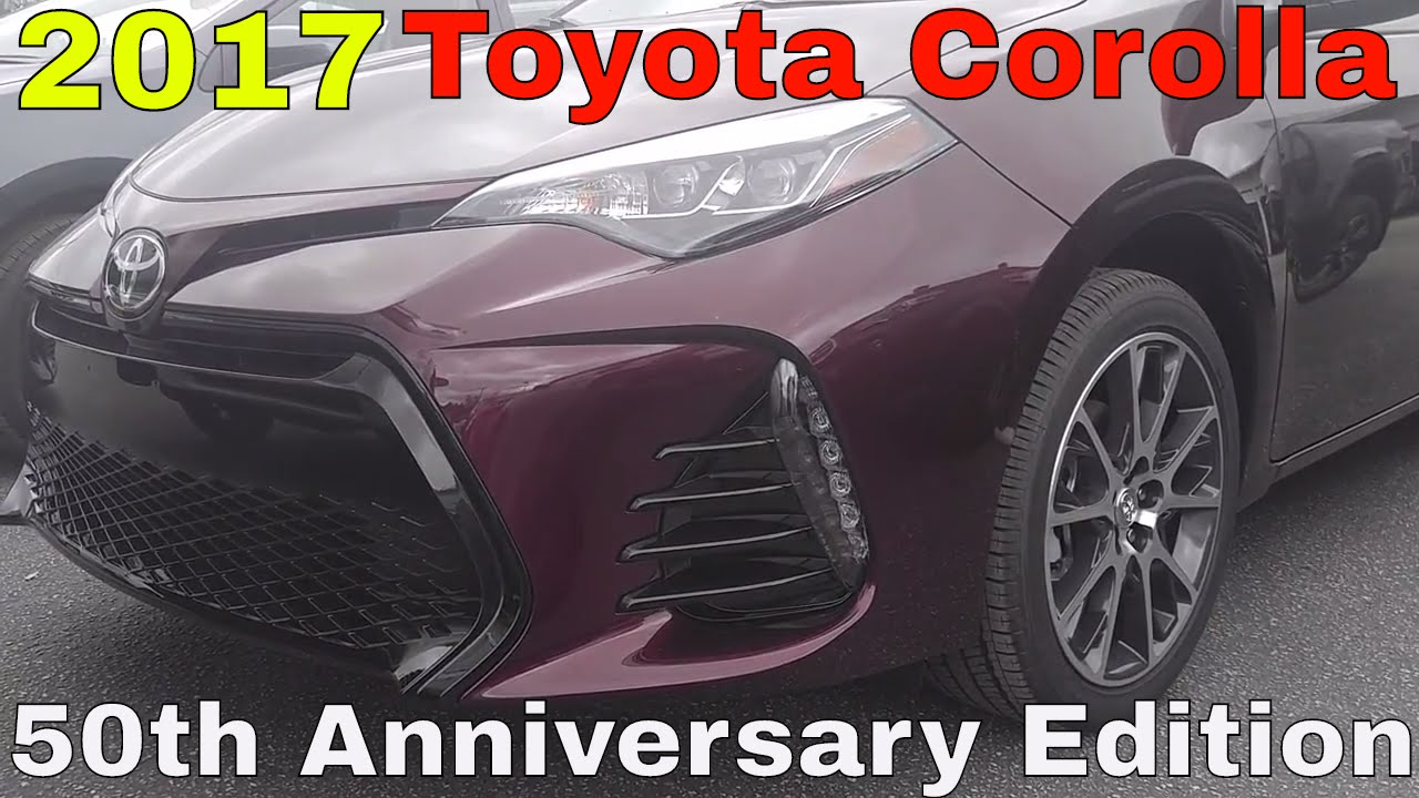 2017 toyota corolla 50th anniversary edition youtube. Black Bedroom Furniture Sets. Home Design Ideas