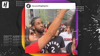 Fake Kawhi Leonard Signing Autographs At Raptors Parade