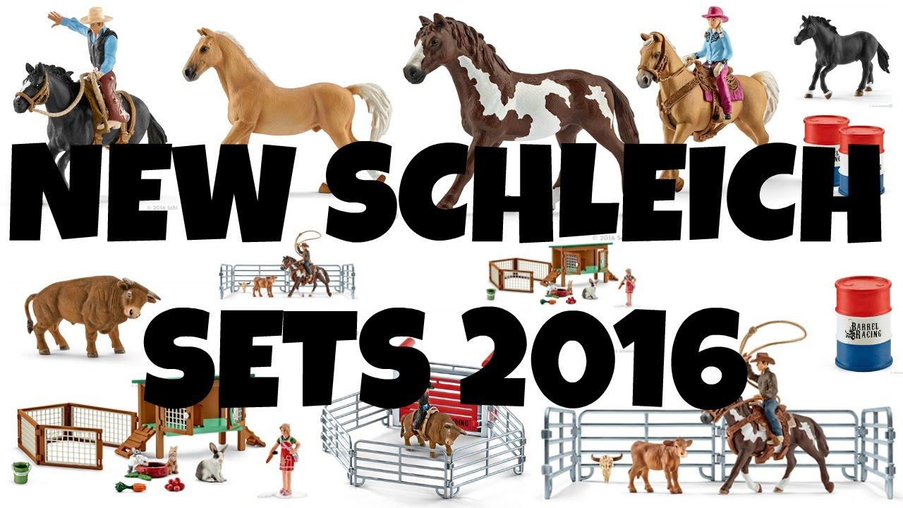 NEW SCHLEICH 2016 SETS | horzielover - YouTube