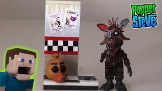 Five Nights at Freddy's fnaf McFarlane toys lego Foxy Camera Hallway Minecraft construction unboxing