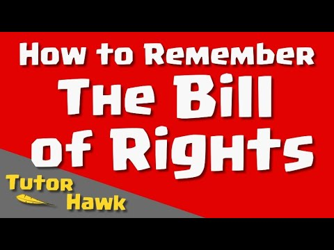 How to Remember The Bill of Rights