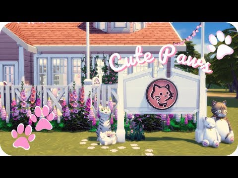 CAT CAFE CUTEPAWS 🐾 | Sims 4 Cats and Dogs Speed Build