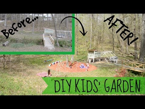 DIY KIDS GARDEN// NATURAL PLAYGROUND// KIDS IN THE GARDEN