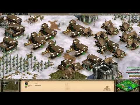 Aoe2 HD: 4v4 Black Forest (Britons, Archer Rush) (6/19/13)