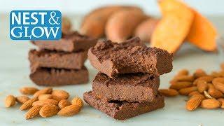 Fast 3-Ingredient Healthy Vegan Chocolate Brownies