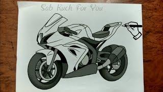 #1 Draw Motorcycles: Sport: How toDraw Motorcycles: Sports bike Step by step easily 😊 Tutorial