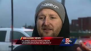 Underground explosion in Quincy Center blamed on weather