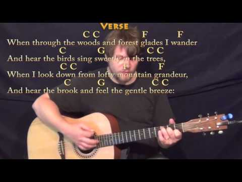 How Great Thou Art (Hymn) Strum Guitar Cover Lesson in C with Chords/Lyrics