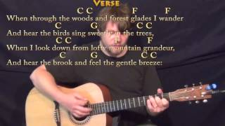How Great Thou Art Hymn Strum Guitar Cover Lesson Chords Lyrics