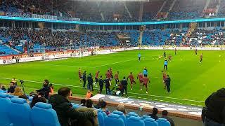 Trabzonspor rizespor maç öncesi ısınma