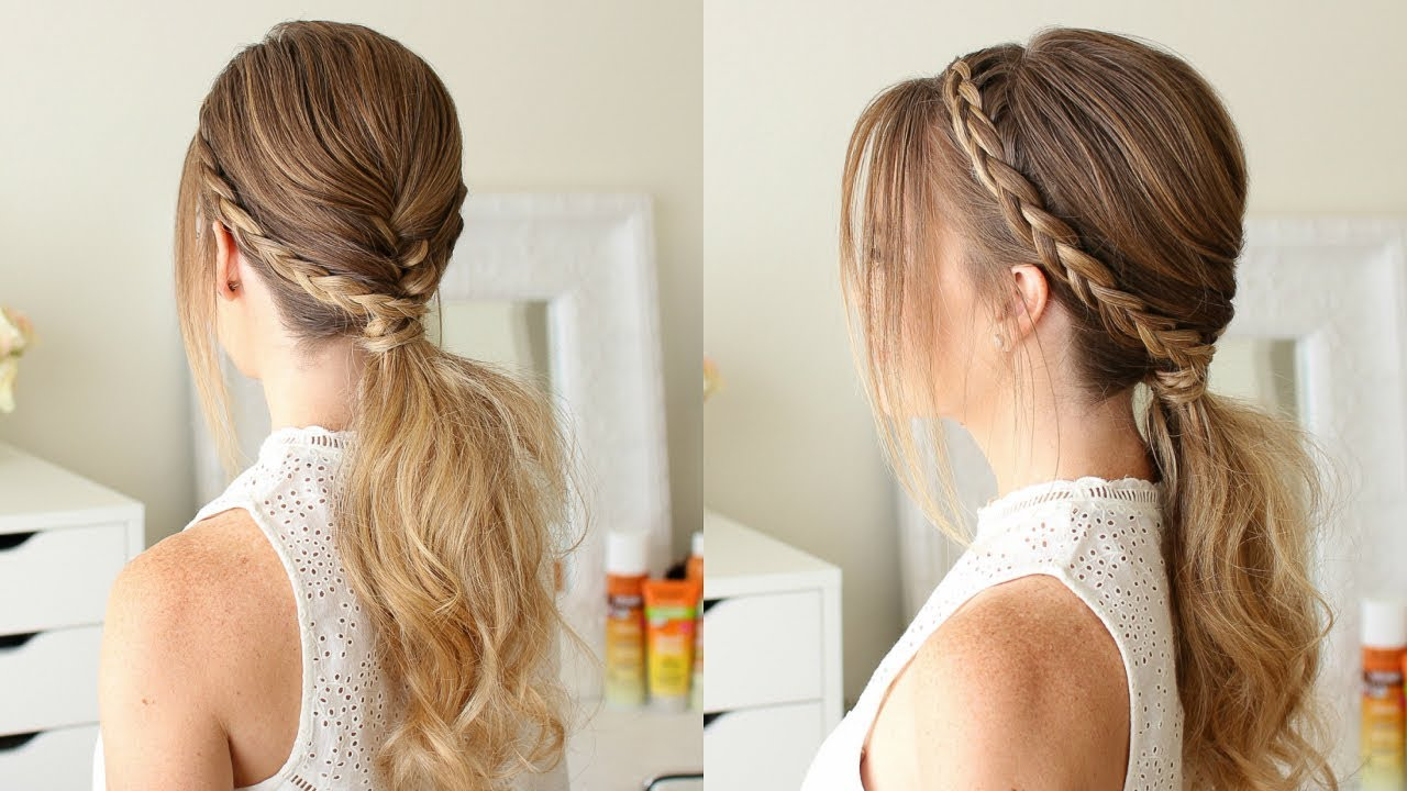 cute hair styles for dances fishtail and braid ponytail sue 2751 | maxresdefault