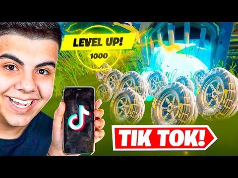 BUG DE XP INFINITO! - TESTEI OS TIKTOKS MAIS VIRAIS DO FORTNITE!
