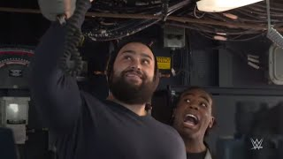 WWE Superstars tour the USS Dewey before WWE Tribute to the Troops 2017