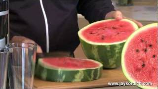 Jay Kordich Makes Watermelon Juice