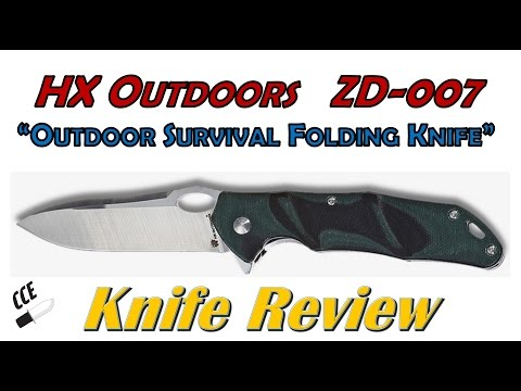 "Review of the HX Outdoors ZD-007. ""Outdoor Survival Folding Knife"" from GearBest.com"