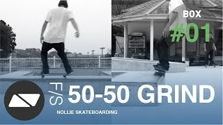Frontside 50-50 Grind [skateboarding Box Tutorial #1.0]