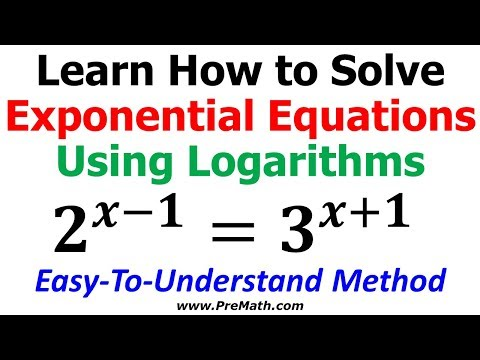How to Solve Exponential Equations using Logarithms - No Common Base Present