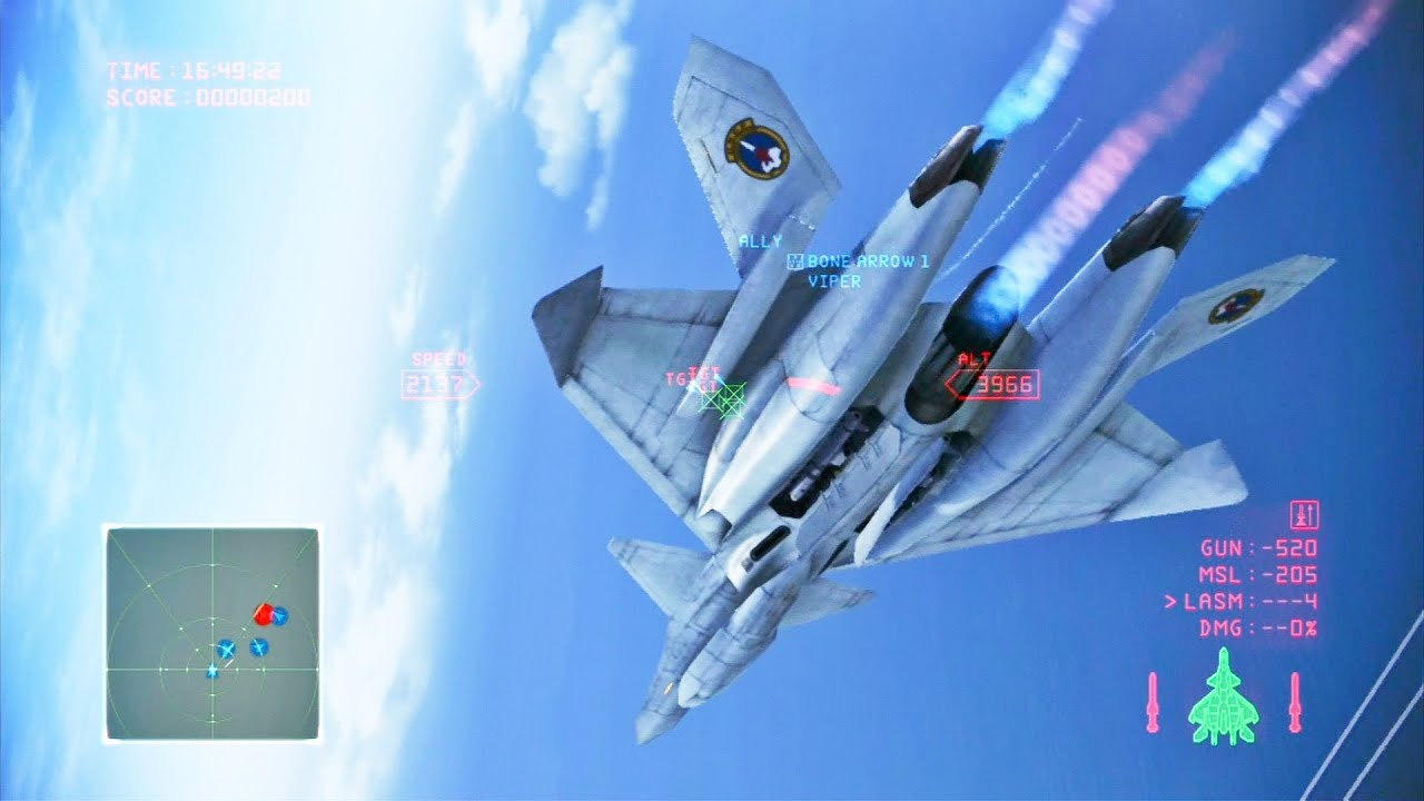 Ace Combat Infinity Mission 6 Avalon XFA 33 Fenrir