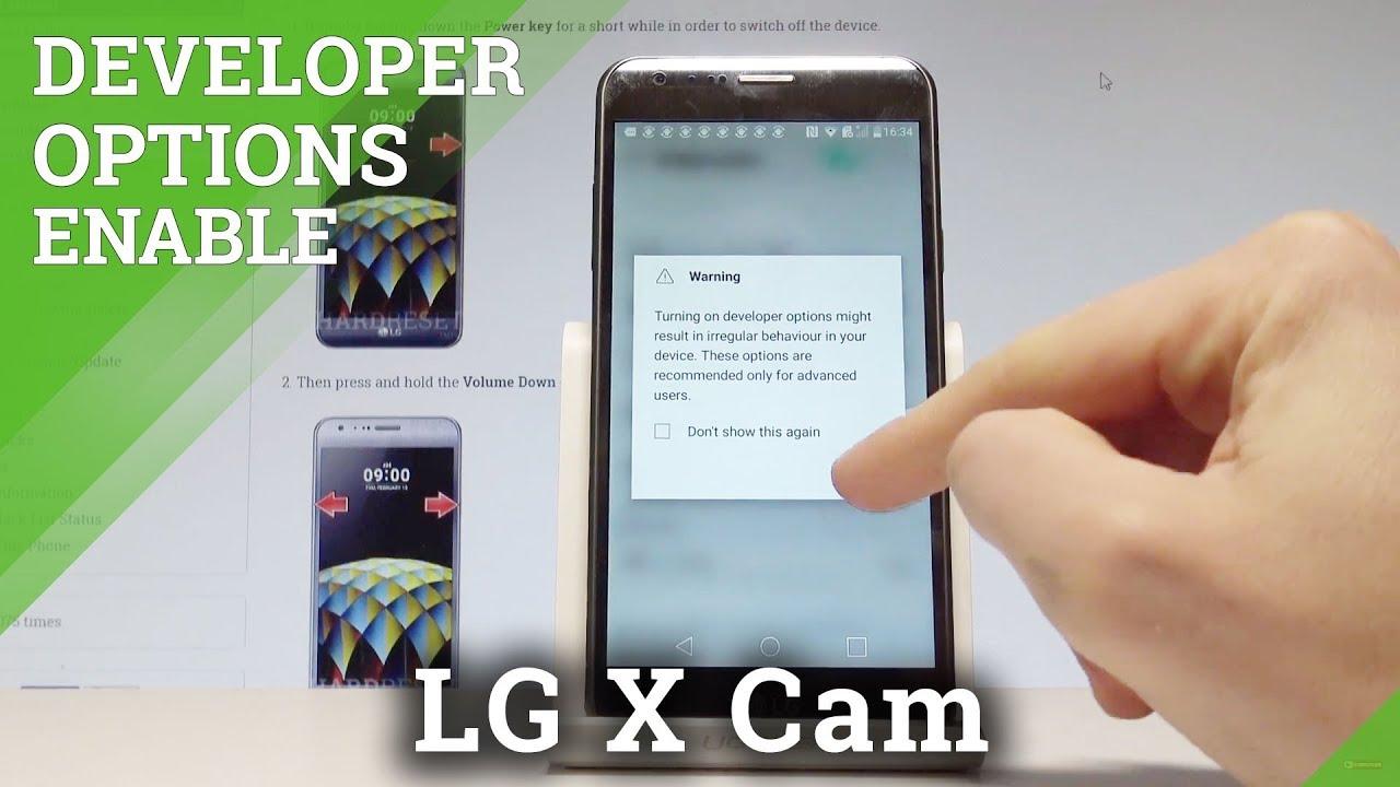 How to Unlock Developer Options LG X Cam - Enable USB Debugging