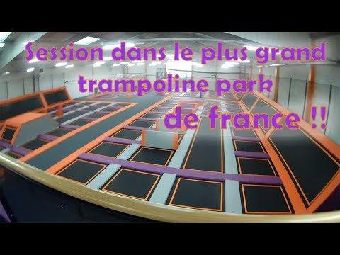 SESSION DANS LE PLUS GRAND TRAMPOLINE PARK DE FRANCE ! / Fly Academy
