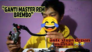 PASANG MASTER REM BREMBO !! BABYLOOK BEAT KARBU !!