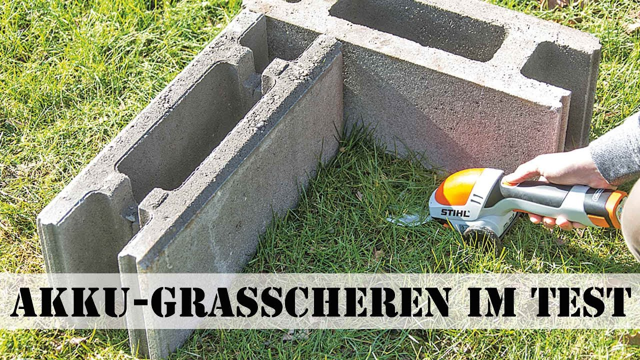 akku-grasscheren test - youtube