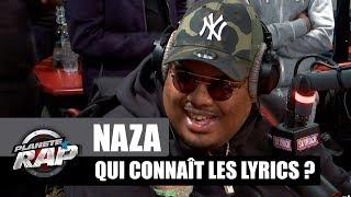 Naza - Qui connaît les lyrics ? avec Gradur & Keblack #PlanèteRap