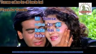 TUMSE MILNE KO DILL hindi karaoke for Male singers with lyrics (ORIGINAL TRACK)
