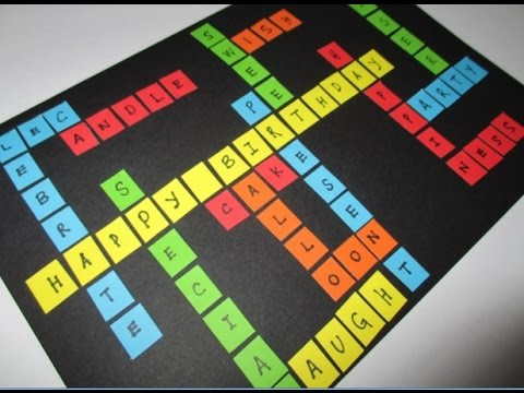 Diy 139 Colorful Scrabble Birthday Card Youtube