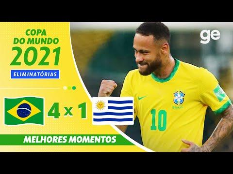BRASIL 4 X 1 URUGUAI | MELHORES MOMENTOS | 12ª RODADA ELIMINATÓRIAS DA COPA | ge.globo