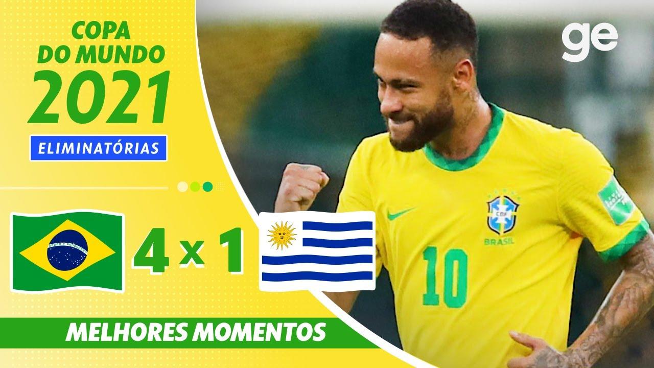 Download BRASIL 4 X 1 URUGUAI | MELHORES MOMENTOS | 12ª RODADA ELIMINATÓRIAS DA COPA | ge.globo