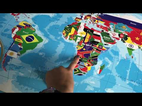 Scratch Off World Map with Flags Poster - GoGoUnique
