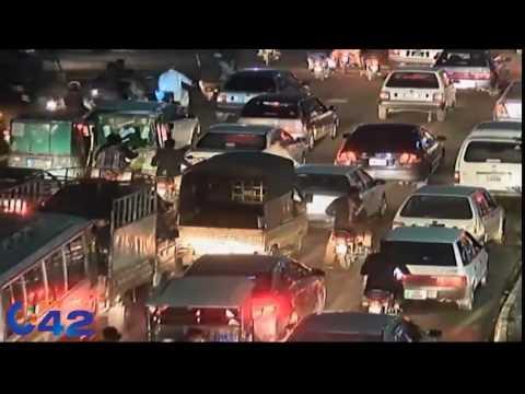 Massive traffic jam on main highways of Lahore