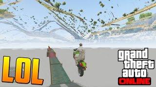 CARRERA EXTREMA DEBAJO DEL MAPA - Gameplay GTA 5 Online Funny Moments (Carrera GTA V PS4)