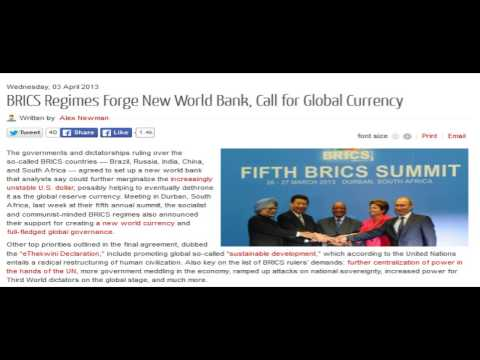 BRICS Regimes Forge New World Bank, Call for Global Currency