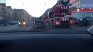 Пожар в общаге на улице Зайцева Спб