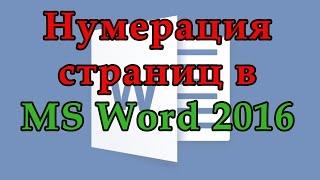 Как пронумеровать страницы в Word 2016. Как сделать нумерацию с любой страницы Ворд