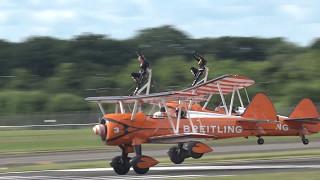 Wingwalkers.. Farnborough Airshow 2016 Sunday.Video had been shot b...