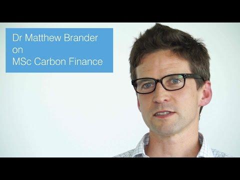 Dr Matthew Brander on MSc Carbon Finance