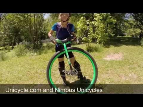 "Nimbus Nightfox 36"" Unicycle Mounts and MUni Ride!"